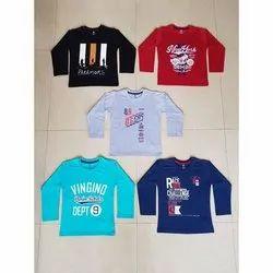 Printed 1-12 Years Kids Boys Full Sleeves T Shirt