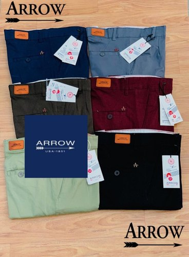 Plain Chinos Men' s cotton trousers