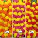 Dual Color Artificial Marigold Flower Garland