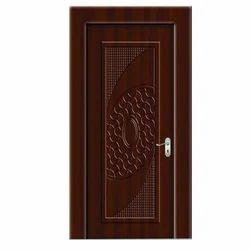 Brown Carved Wooden Door