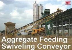 Aggregate Feeding Swiveling Conveyor