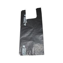 51 Micron Black Plastic Carry Bag