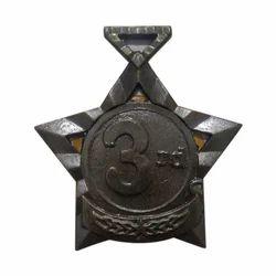 Star Shape Silver Medal