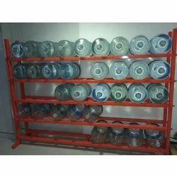 Mild Steel Bubble Top Water Tin Storage Rack