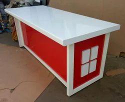 Stainless Steel Rectangular Office Table