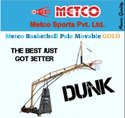 Basketball Pole Movable Gold - Black