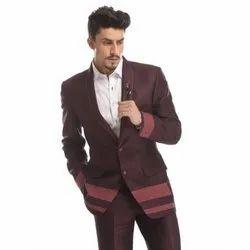 Diwan Saheb DF-490 Mens Maroon Western Suit