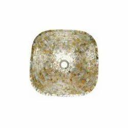 CPSN - Gold Mop Square Stone Basin