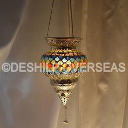Glass Deshilp Overseas Mosaic T- Light Hanging
