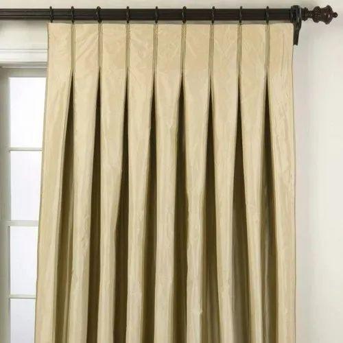 Plain Box Pleated Curtains Rs 850