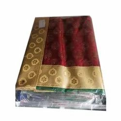 Party Wear Designer Silk Saree, Packaging Type: Packet, 6.3 m (with blouse piece)