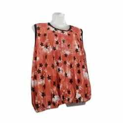 Creta Fabric Casual Wear Printed Ladies Top
