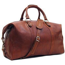 9df1a77815ad Adel Brown Leather Canvas Duffel Bags