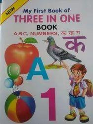 Three In One English Children Educational Book, Ukg