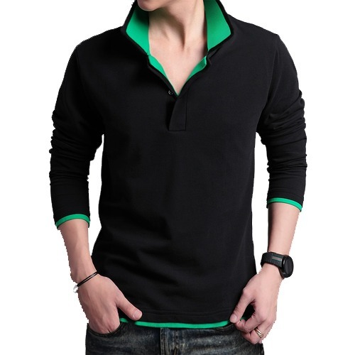 bc05bf5242 Polo Party Wear Full Sleeve Collar Neck T Shirt