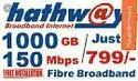 Broadband Fibre Hathway Internet Service Provider, 799, 150
