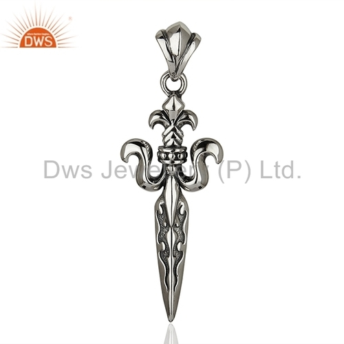 Dws oxidized 925 silver sword pendant jewelry rs 1116 piece id dws oxidized 925 silver sword pendant jewelry aloadofball Images