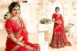 Red Color Stylish Look Designer Lehenga