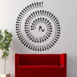 Spiral Tarpa Dance Wall Decal
