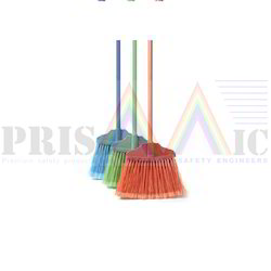 Red & Green Plastic Floor Cleaning Brooms