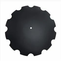 High Carbon Steel Round Notched Disc Blade, 3 - 8 Mm, 38 To 45 Hrc