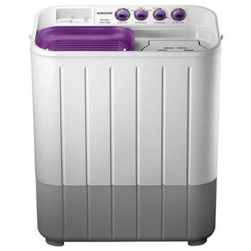 Samsung 7 kg Semi Automatic Top Load Washing Machine, WT705QPNDMPXTL, White & Purple