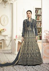 PR Fashion New Heavy Designer Grey Colored Floor Length Suit