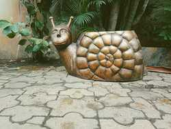 FRP Snail Garden Planter