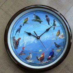 Hemaki Lab Multicolor Bird Wall Clock, For Anywhere