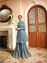 Indian Ethnic Designer Satan With Net Heavy Embroidered Party Wear Sharara
