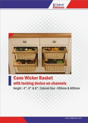 White pure cane wood wicker basket, For Home