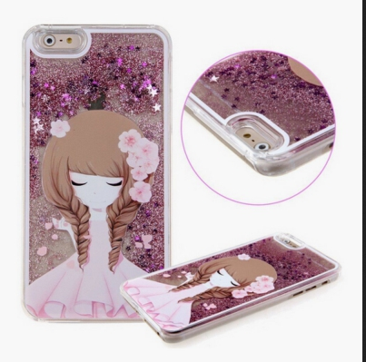 low priced 47b78 0a529 Appealing Baby Pink Skirt Girl Love Stars Liquid Glitter For Back Cover  Iphone 5s Rose Gold