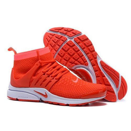 red nike sport shoes