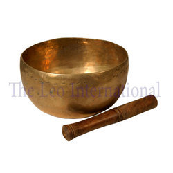Hammered bronze antique Tibetan Singing Bowl