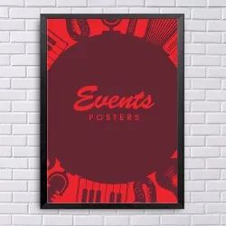 Multicolor Events Advertising Posters, Size: 3x2 Inch