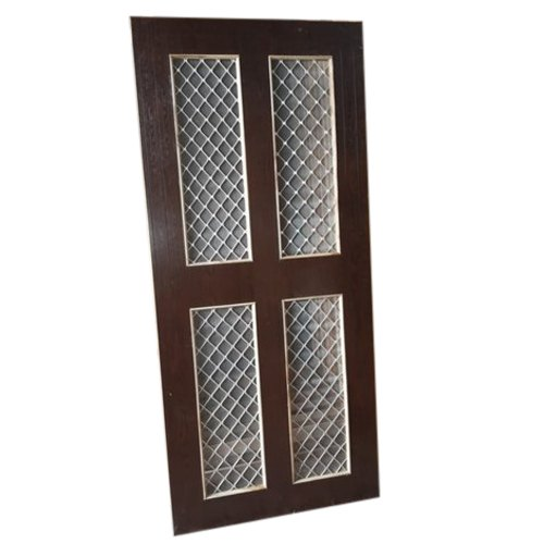 Brown Wood Four panel jali door, Size/Dimension: 8x4 Feet, Rectangular