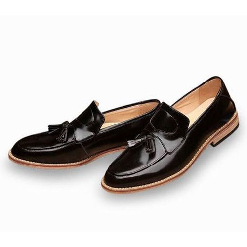 7e82bc5dbe8 Mens Black Designer Leather Loafer Shoes