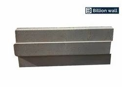 Rectangular Gray Concrete Interlocking Bricks, For Side Walls, Size: 14x6x6 inch