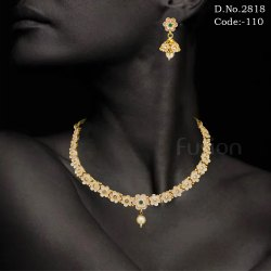 Designer Meenakari Kundan Necklace Set