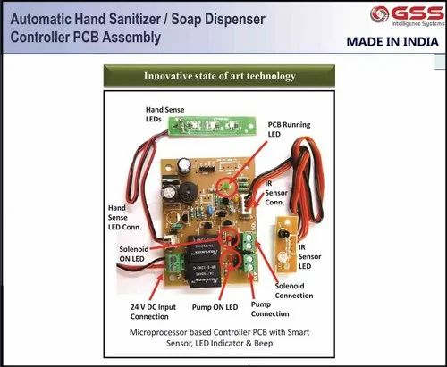 Electronic Controller Circuit Kit For Hand Sanitizer Machines Made In India Product