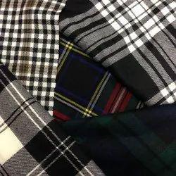 Checks Suiting Fabric Plain