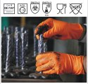 NPF/DT/7O Nitrile Orange Diamond Texture Gloves