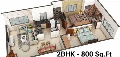 2 Bhk Flat Interior Design Services In Sakinaka Mumbai