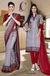 Uniform Saree and Salwar Set