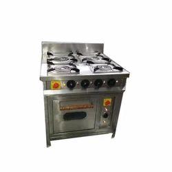 Royal Kitchen Equipment 4 Burner Gas Range with oven