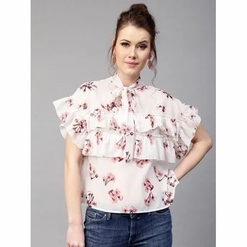 cc25a1d5232e0 Printed Half Sleeves Ladies Party Wear Cotton Top, Rs 300 /piece ...