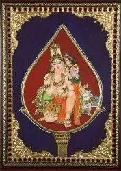 Swami malai Murugan Tanjore painting