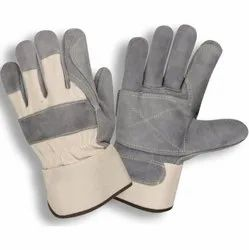 Leather Rigger Split Canadian Double Palm Hand Gloves
