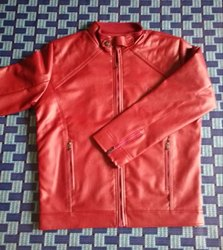 Men collar PU Leather Jackets