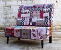 Vintage Fabric Sofa for Restaurants